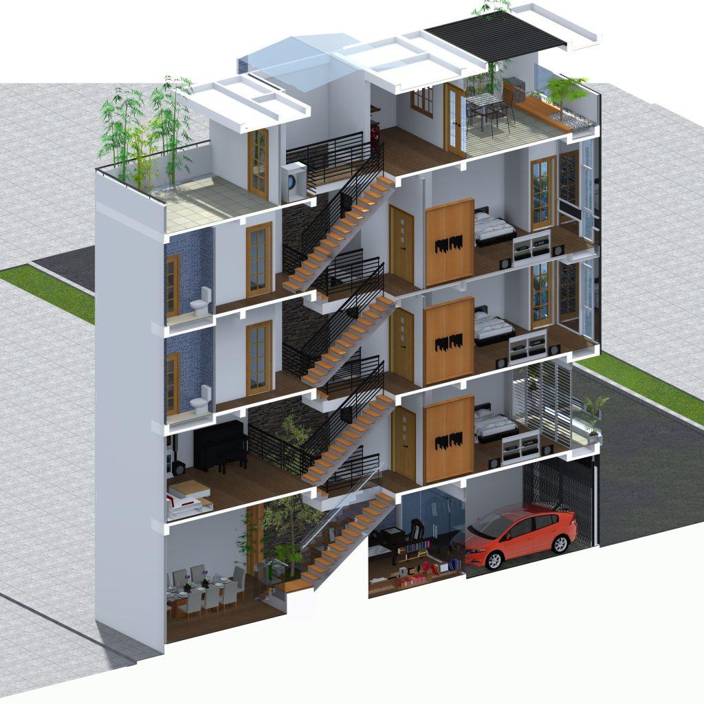 Nhà phố lệch tầng